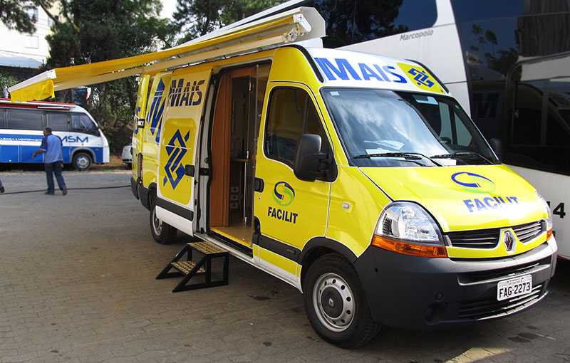 A Eco X transformou o veículo Renault Master para o Banco do Brasil