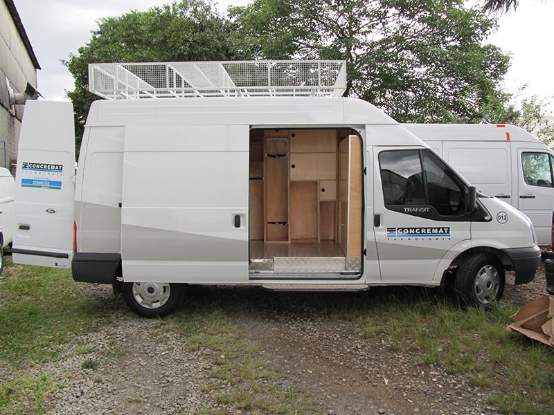 A Eco X transformou a Van Ford Transit para a Concremat