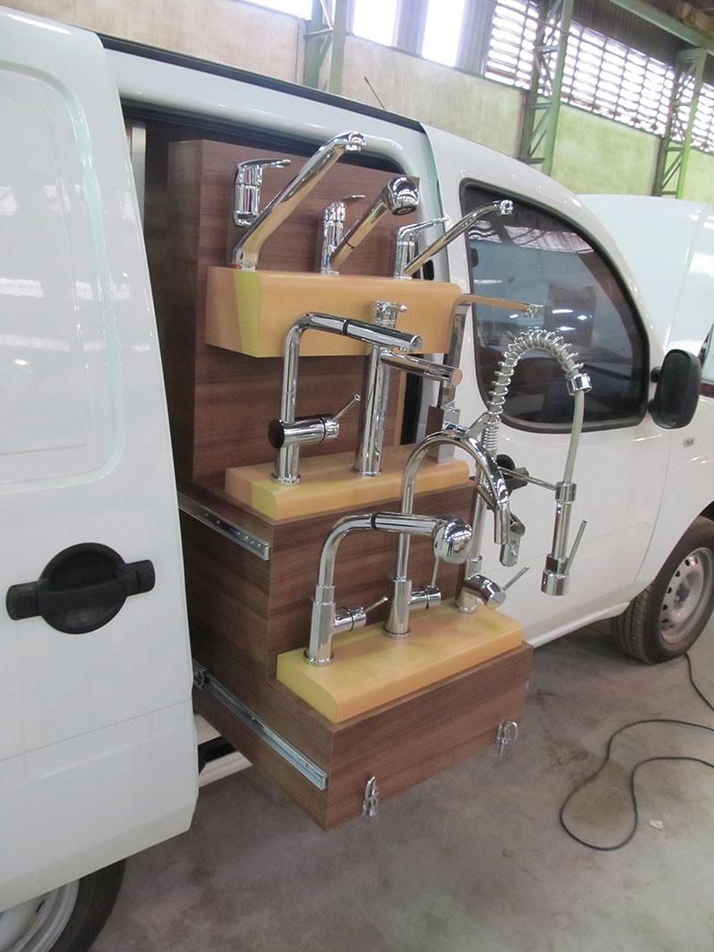 A Eco X transformou o veículo Fiat Doblo para a Eternit Torneiras