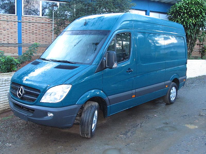 A Eco X transformou o veículo Mercedes-Benz Sprinter para a Mercedes-Benz
