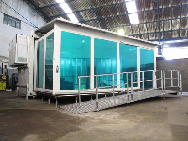 A Eco X desenvolveu a customização interna do Container para a Flex Medical