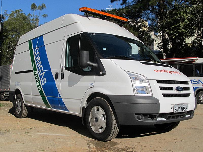 A Eco X transformou o veículo Ford Transit para a Comgás