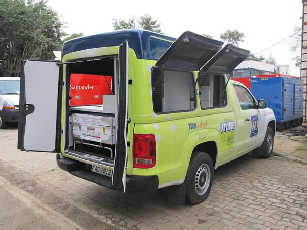 A Eco X transformou o veículo Volkswagen Amarok para a Arysta Life Science