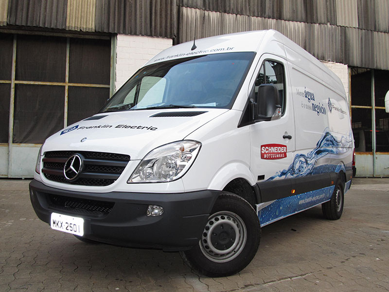 A Eco X transformou o veículo Mercedes Benz Sprinter para a Franklin Electric