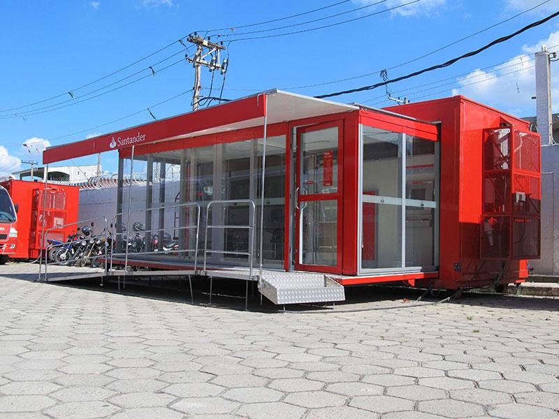 A Eco X realizou a adequação do Container para o Santander