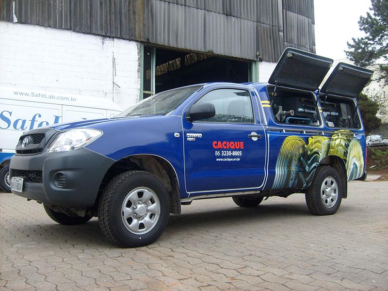 A Eco X transformou o veículo Hilux para a Goodyear
