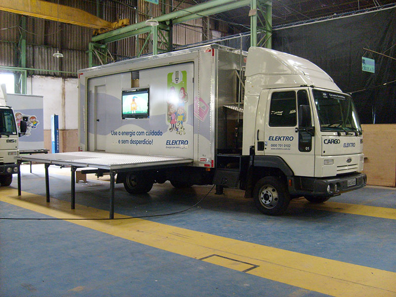 A Eco X transformou o Caminhão Baú para a EDP Pense Eco