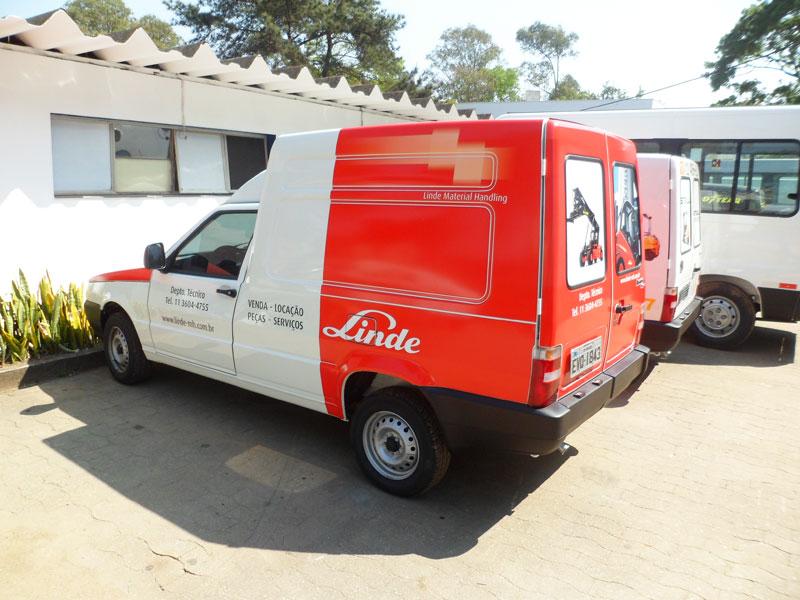 A Eco X transformou o veículo Fiat Fiorino para a Linde