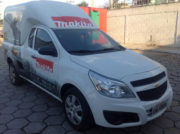 A Eco X transformou o veículo Chevrolet Montana para a Makita