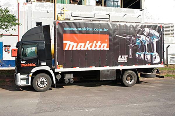 A Eco X realizou a adequação do Caminhão Baú para a Makita