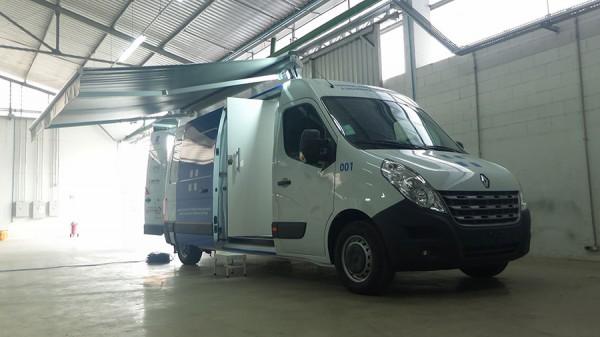 Eco X transforma furgão em Unidade Móvel de Segurança do Trabalho