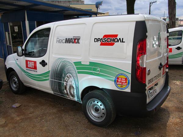 A Eco X transformou o veículo Fiat Doblò para a DPaschoal