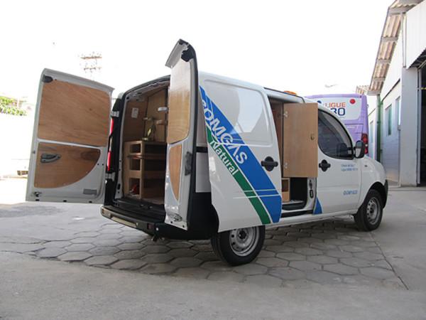 A Eco X transformou o veículo Fiat Doblò para a Comgás